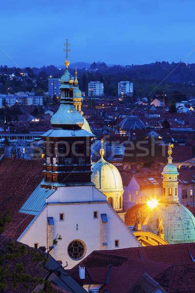 Graz Cahtedral and Katharinenkirche Stock photo © benkrut