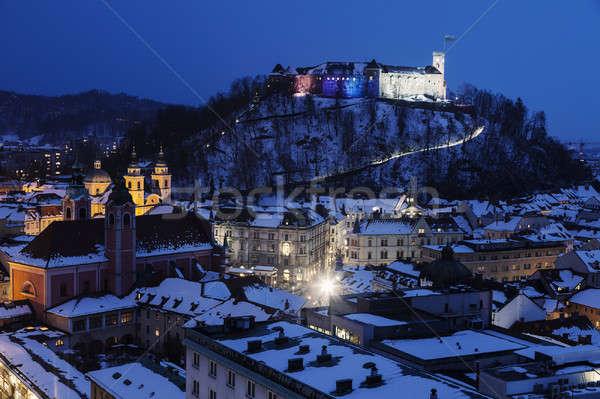 Panorama of Ljubljana  Stock photo © benkrut