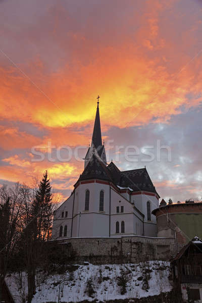 St. Martin's Parish Church at sunset  Stock photo © benkrut