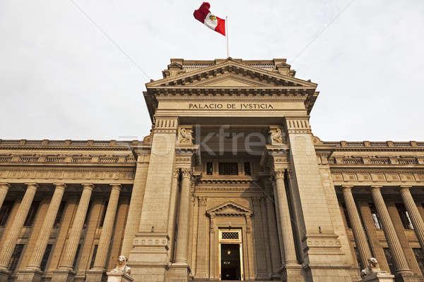 Palacio de Justicia in downtown Lima, Peru Stock photo © benkrut