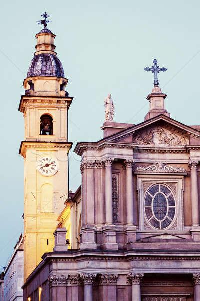 San Carlo and Santa Cristina on Piazza San Carlo in Turin Stock photo © benkrut