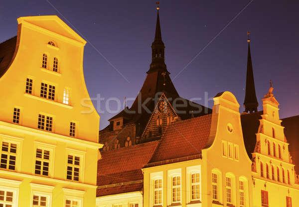St. Mary's Church in Rostock Stock photo © benkrut