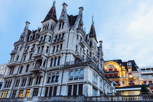 Old architecture of Lausanne Stock photo © benkrut