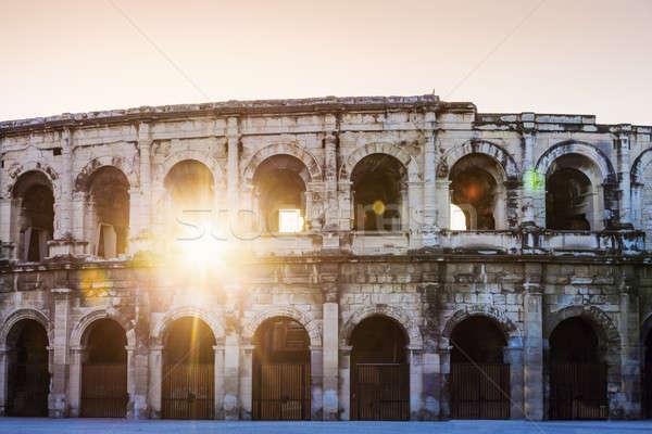 арена Восход небе здании солнце городского Сток-фото © benkrut