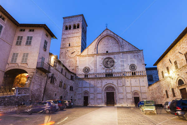 Cathedral of San Rufino in Assisi Stock photo © benkrut