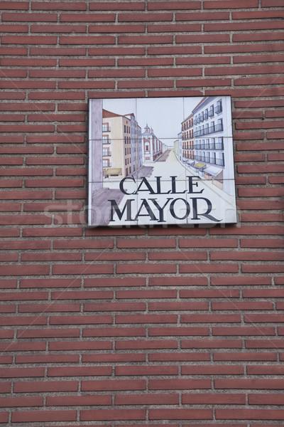 Teken muur kantoor stad reizen Stockfoto © benkrut