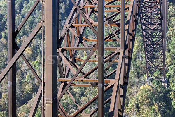 új folyó híd Nyugat-Virginia Stock fotó © benkrut