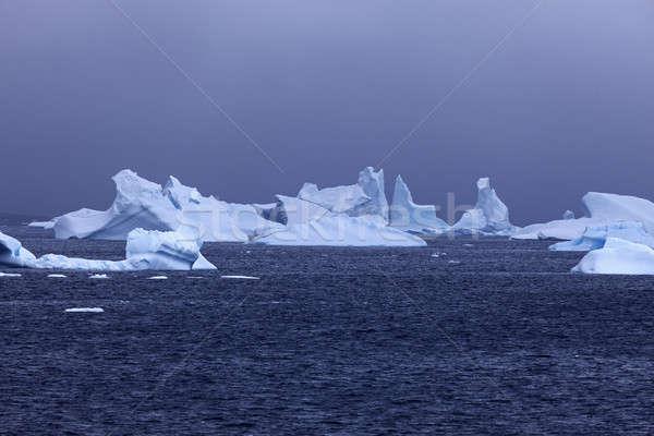 Ice floatin on Antarctic waters Stock photo © benkrut