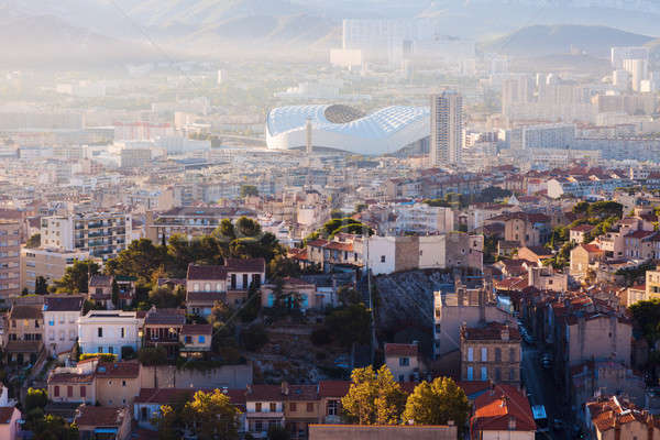 Architecture of Marseille - aerial view Stock photo © benkrut