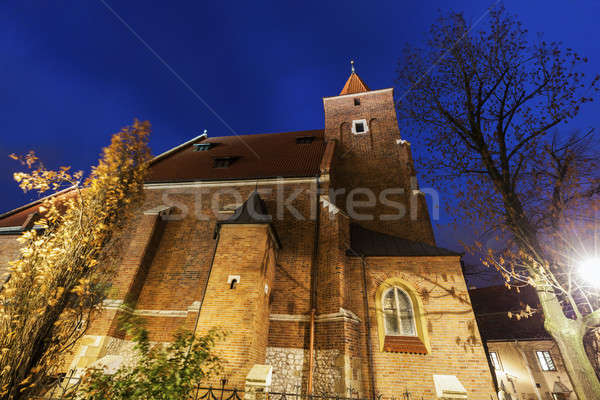 Iglesia cruz cracovia Polonia cielo Foto stock © benkrut