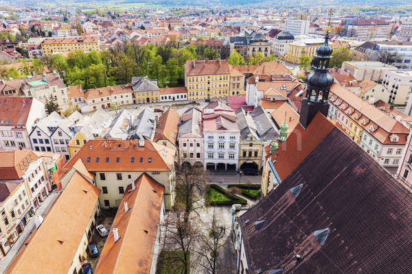 Old town of Ceske Budejovice Stock photo © benkrut