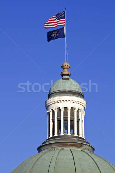 Flags on the top of State Capitol Building  Stock photo © benkrut