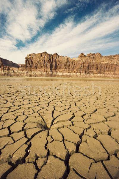 Drying River in Utah Stock photo © benkrut