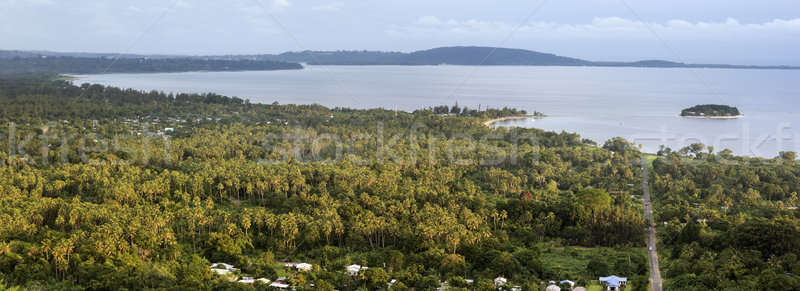 Vanuatu Nachmittag Panorama Insel Port Stock foto © benkrut