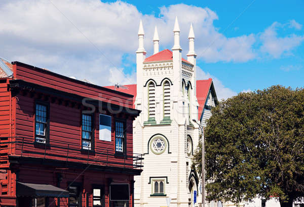 Kerk theems New Zealand reizen Stockfoto © benkrut