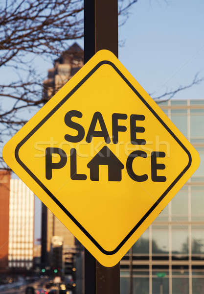 Safe place sign Stock photo © benkrut