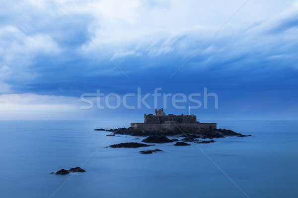 Fort National on island in St-Malo Stock photo © benkrut
