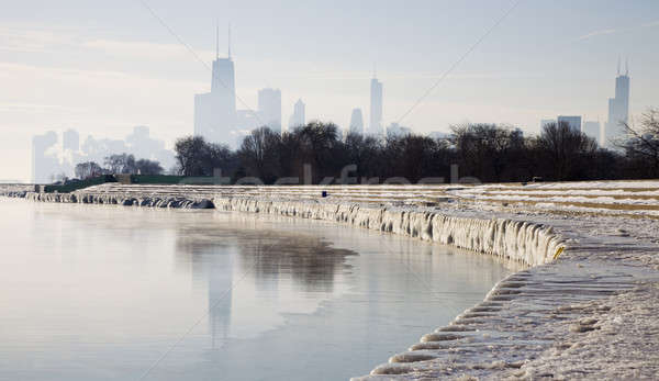 Icy morning in Chicago Stock photo © benkrut