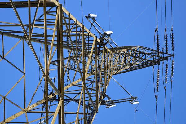 Foto stock: Células · utilidad · torre · cielo · azul · construcción · azul
