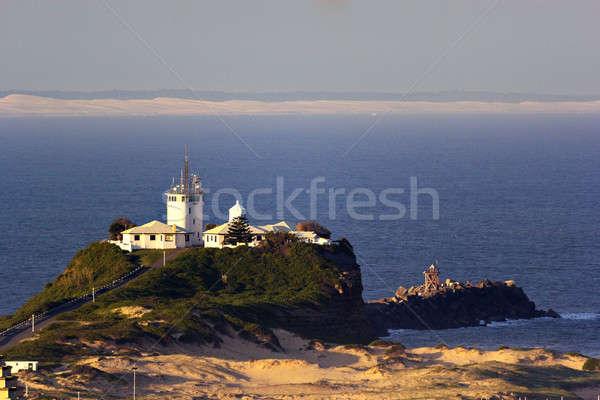 Cabeza newcastle cielo agua océano blanco Foto stock © benkrut