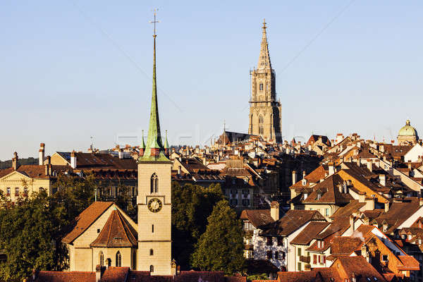 Architecture of Bern in the morning Stock photo © benkrut
