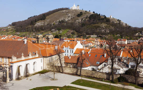 Holy Hill and roofs of Mikulov Stock photo © benkrut