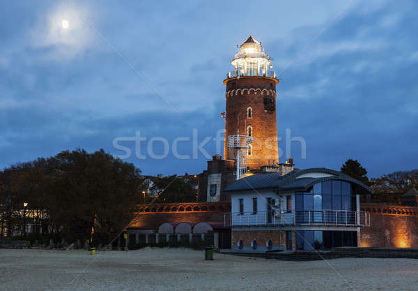 Kolobrzeg Lighthouse at evening Stock photo © benkrut