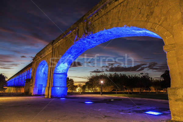 Saint Clement Aqueduct in Montpellier Stock photo © benkrut