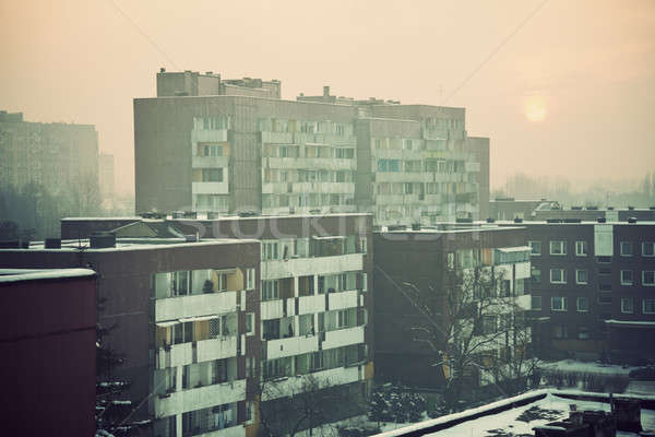 Apartment buildings in Sosnowiec Stock photo © benkrut