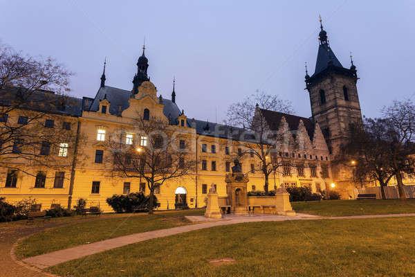 Nieuwe stadhuis Praag gemeentelijk rechter Tsjechische Republiek Stockfoto © benkrut