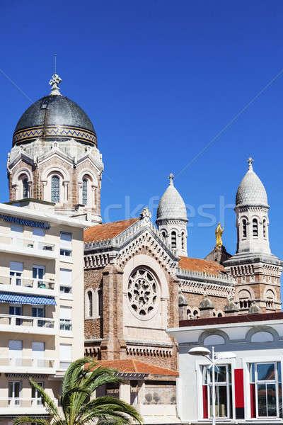 Basilique Notre Dame de la Victoire in Saint-Raphael Stock photo © benkrut