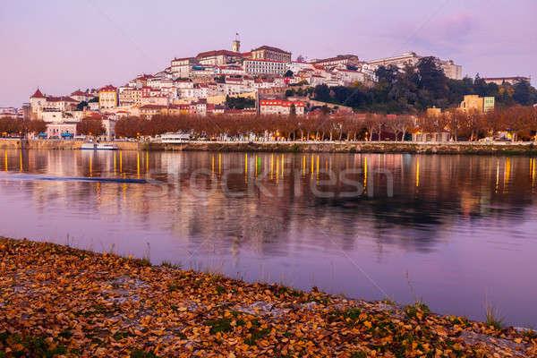 Panorama of Coimbra across Mondego River Stock photo © benkrut