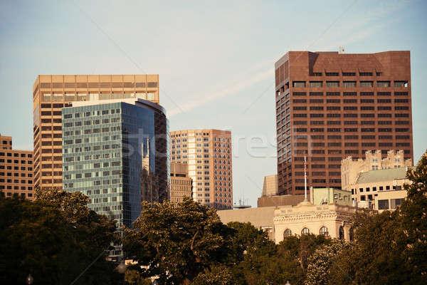 современных центра Бостон центр Массачусетс окна Сток-фото © benkrut