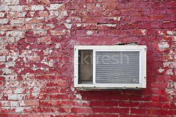 Eski birim kırmızı tuğla duvar doku duvar Stok fotoğraf © benkrut