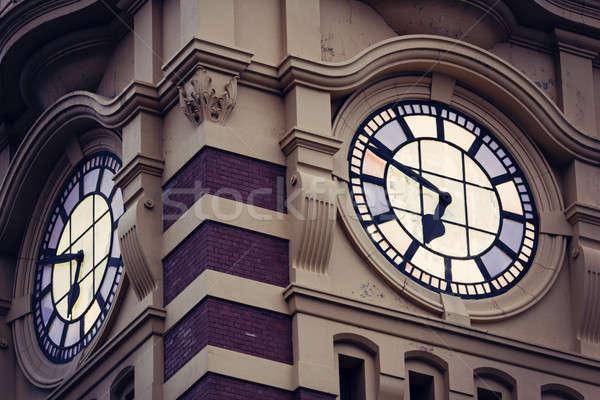 улице станция часы башни Восход Сток-фото © benkrut