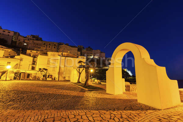 Sperlonga at sunrise Stock photo © benkrut