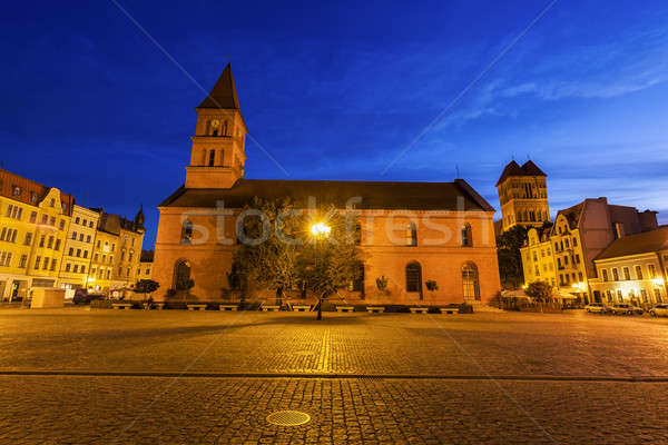 Holy Trinity Church on New Market Square Stock photo © benkrut