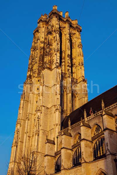 Saint Rumbold's Cathedral in Mechelen Stock photo © benkrut