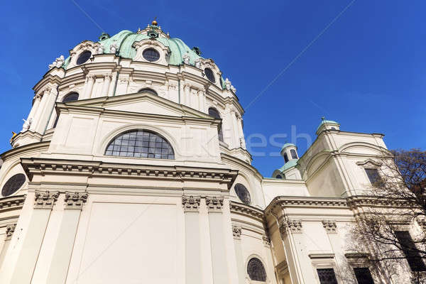 Igreja Viena Áustria céu azul linha do horizonte Foto stock © benkrut