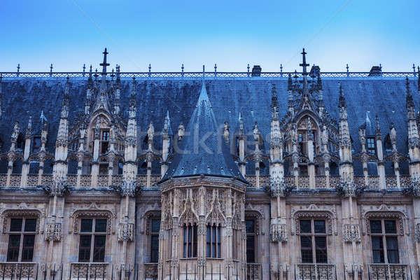 Parlamento normandiya Fransa şehir mavi kentsel Stok fotoğraf © benkrut