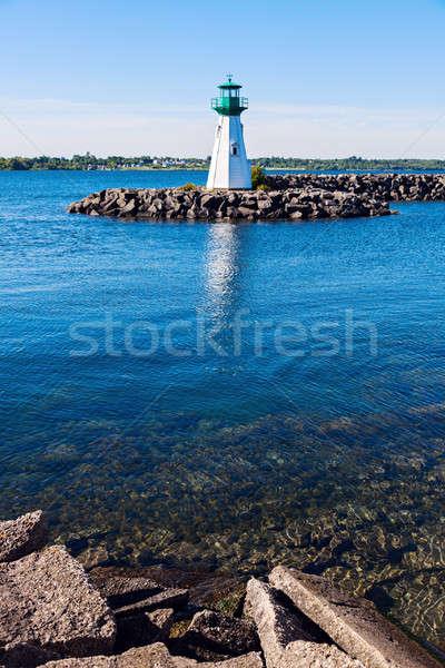 Herança porto farol Vermont ver rio Foto stock © benkrut