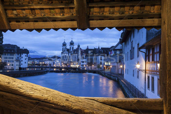 Lucerne at sunrise Stock photo © benkrut