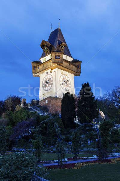 The Uhrturm in Graz Stock photo © benkrut