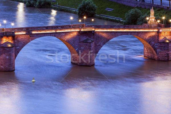 Karl Theodor Bridge in Heidelberg Stock photo © benkrut