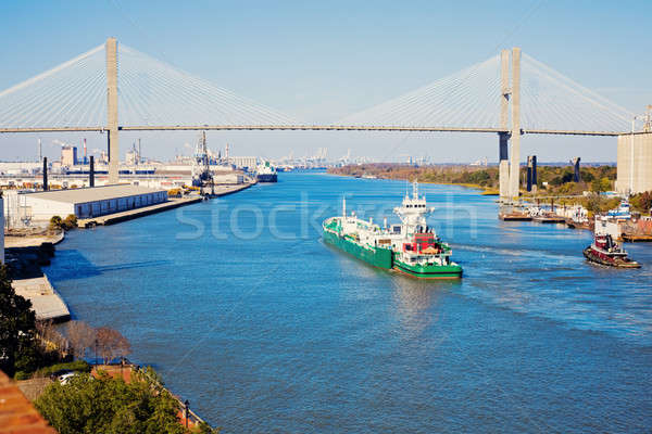 Ship entering port of Savannah   Stock photo © benkrut