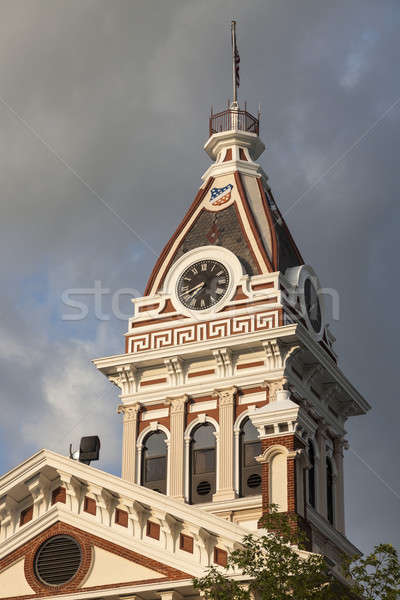 Livingston County - old Courthouse in Pontiac, Illinois Stock photo © benkrut