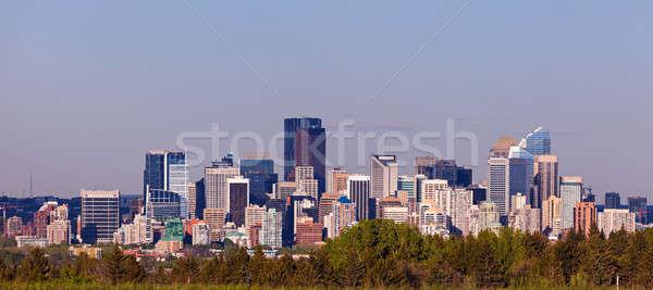 Panorama calgary hemel voorjaar gebouw Blauw Stockfoto © benkrut
