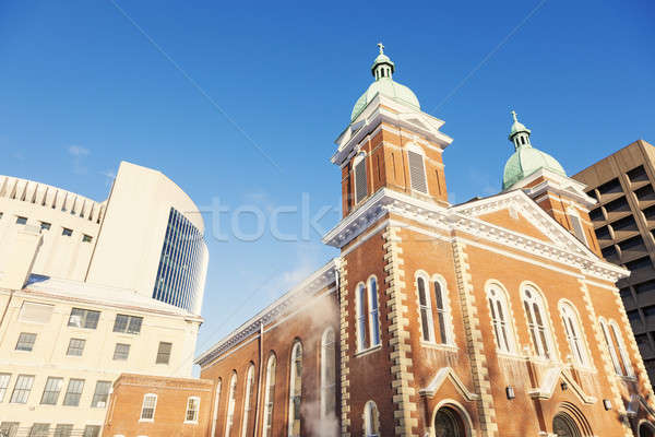Kilise Kansas şehir Missouri sabah Stok fotoğraf © benkrut