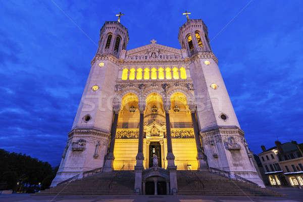Basilica of Notre-Dame de Fourviere in Lyon Stock photo © benkrut