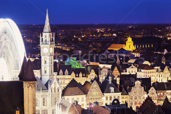 Aerial view of Ghent Stock photo © benkrut
